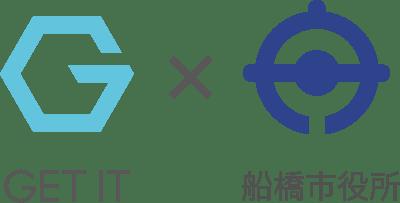 ゲットイットと船橋市のロゴ