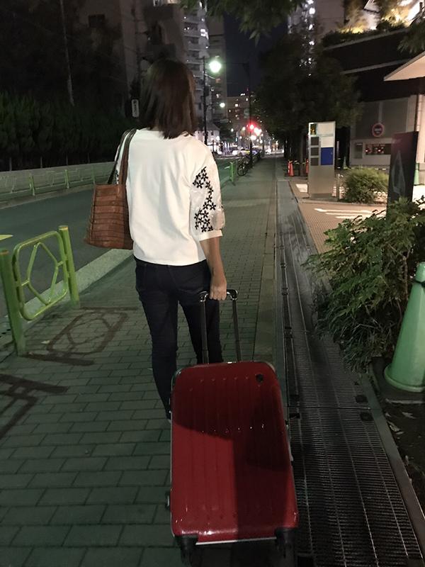 軽くなったスーツケース