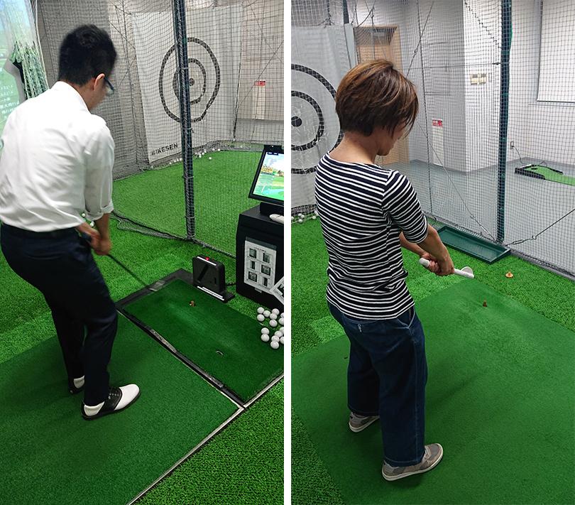 ゴルフ部 練習中
