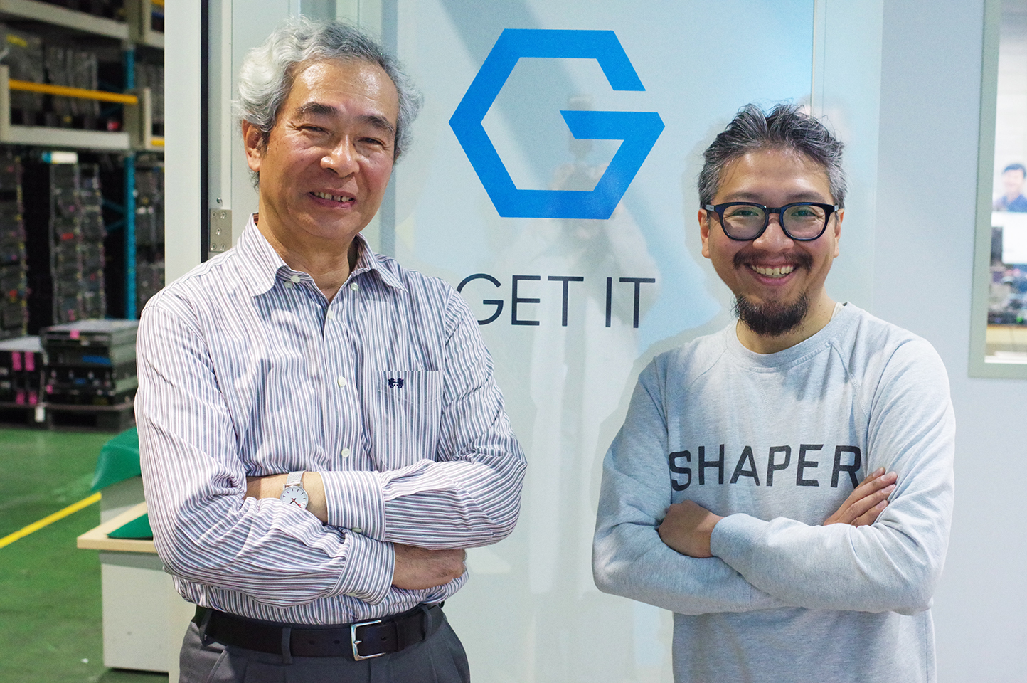 沼田理氏、株式会社ゲットイットの技術顧問に就任:沼田氏とゲットイット代表廣田