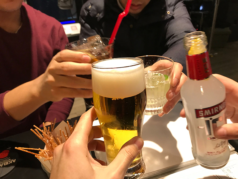 仕事終わりに乾杯!!