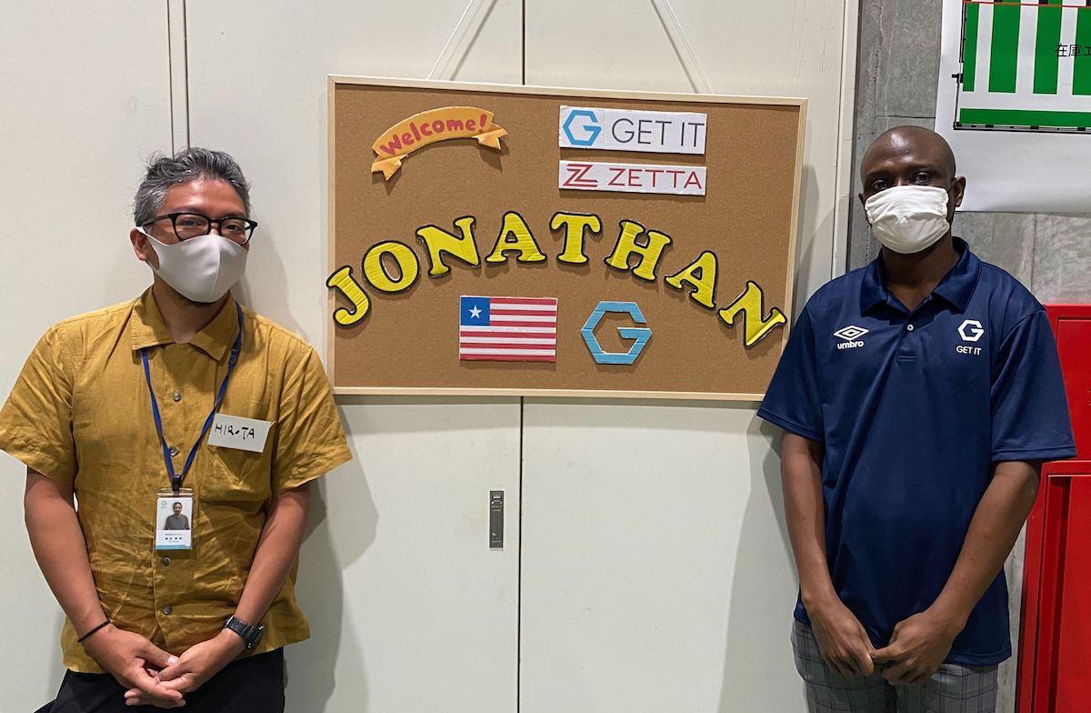 研修生Jonathanさんとゲットイット代表廣田